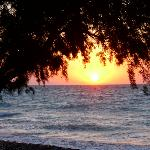 sunset vallian beach