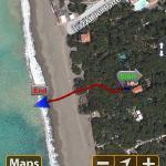 120 mt di GPS dal mare!