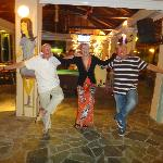 Les, Patricia(friendly barmaid), and Marc. 2012