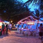 beach area at night