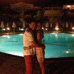 outside the pool area at night, we had a fantastic honeymoon xxx