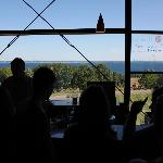 Tasting area with a view