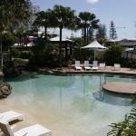 heated pool at southern end of lagoon pool