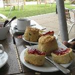 Cream Tea at Weir's Cafe
