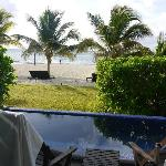 View from Bungalow deck; small private pool; listen to the waves!