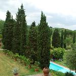 View from our rooms at Villa Calcinaia