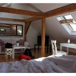 The cozy attic room