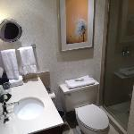 Pleasant, but cramped bathroom