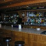 Full bar in the downstairs lodge