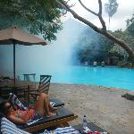 Fogging at Kumala Pantai in July 2012 but we are still by the pool!