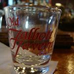 Souvenir shot glass with sampler