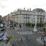 Looking on to O'Connell Street from our room.