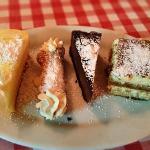Lemoncello cake, Cannoli, Chocolate Mousse cake & Tiramisu