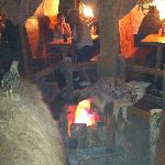 "Buckaroo Bills - ""Campfire"" in middle of room."