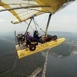 Flying over Nickajack dam