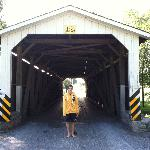 The covered bridge from the other side