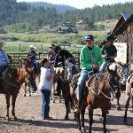 getting ready to go horseback riding