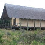 The exterior of the tent