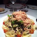 Foie gras-apple salad starter
