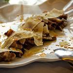 Pluma iberica con parmesano y bolets