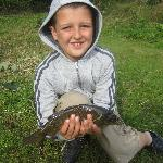Thomas's first catch!!
