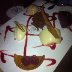 Assiette of desserts @ Sands