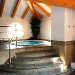 The relaxing hydro-massage pool