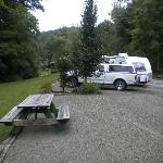 campground, one of the upper sites.