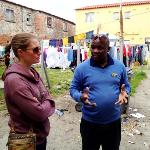 our guide explaining how he was brought up as a kid in Langa