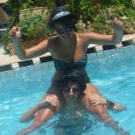 me and my friend on amores pool! great memories