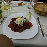 Antipasti - Bresaola with lemon and cheese - recommended