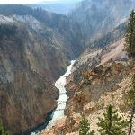 Yellowstone River e canyon da Inspiration Poit