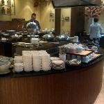 Hot dishes, soup & coffee counter