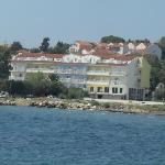 The hotel viewed from the harbour