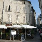 The hotel is just beside the Palais des Papes