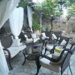 hotel lounge area on terrace