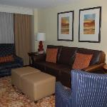 View of confortable living suite.
