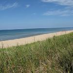 Lake Michigan beach, just 1 mile away