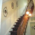Winding Staircase to 2nd Floor Guest Rooms