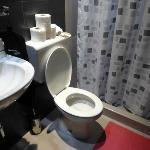 Gleaming private bathroom.