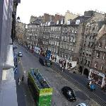 from our room, Lawnmarket St(to Edinburgh Castle)