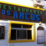 our favourite restaurant in Albufeira old town, Os Arcos