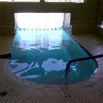 Pool starts inside.... flaps need to be cleaned