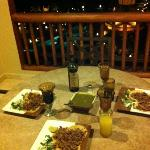 Dinner on our balcony