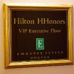 Top floor, reserved for HHonors members.