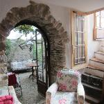 Arched doorway in common area.