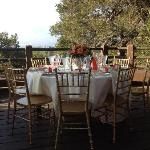 Table setting prior to guests arrival
