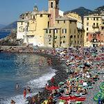 View of Camogli, Italy