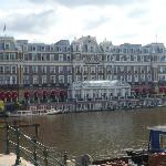 Amstel hotel from across the Amstel river.