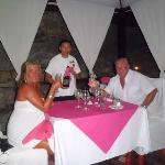 Cena intima en el Hotel Dos Playas.